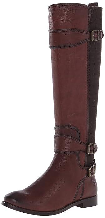 FRYE Womens Anna Gore Tall Buffalo Leather Riding Boot  NKIKF0SNP