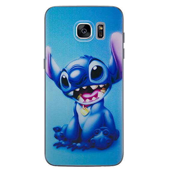1b7d8ebb0 Amazon.com: Galaxy S7 Lilo & Stitch Silicone Phone Case/Gel Cover for  Samsung Galaxy S 7 (S7/G930) / Screen Protector & Cloth/iCHOOSE/Stitch: Cell  Phones & ...