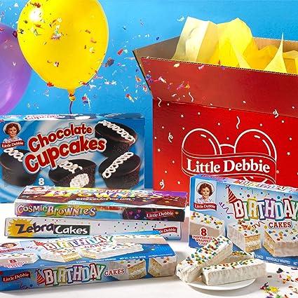 Caja de cumpleaños Little Debbie: Amazon.com: Grocery ...