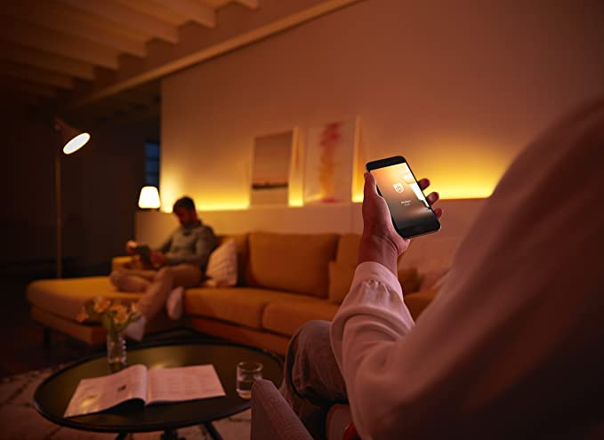Philips Hue Lightstrip Plus, Tira Inteligente LED, 1m (Extensión para Tira 2m), Luz Blanca y Color, Compatible con Alexa y Google Home: Amazon.es: Iluminación