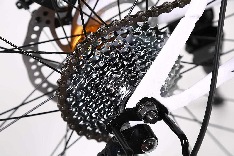 Gunai Bicicleta Montaña,26 Pulgadas 21 Velocidades Doble Freno ...