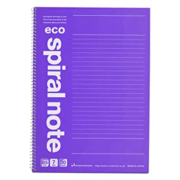 maruman eco spiral notebook b5 6 9 x 9 8 7 mm rule 31 lines