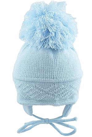 16898581d43e Pesci Baby Pom Pom Hat Diamond Pattern  Amazon.co.uk  Clothing