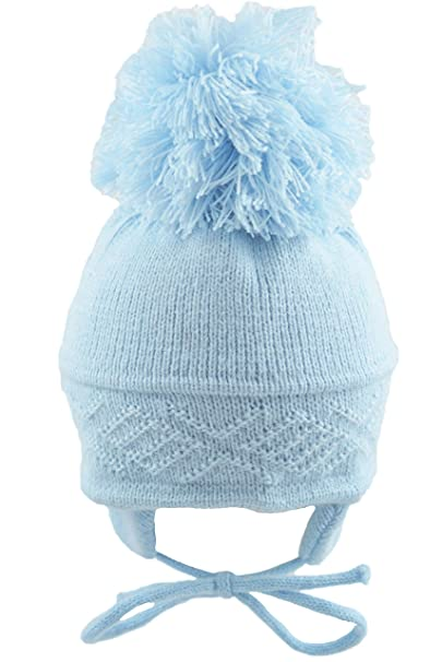 d8ad628f087 Pesci Baby Pom Pom Hat Diamond Pattern  Amazon.co.uk  Clothing