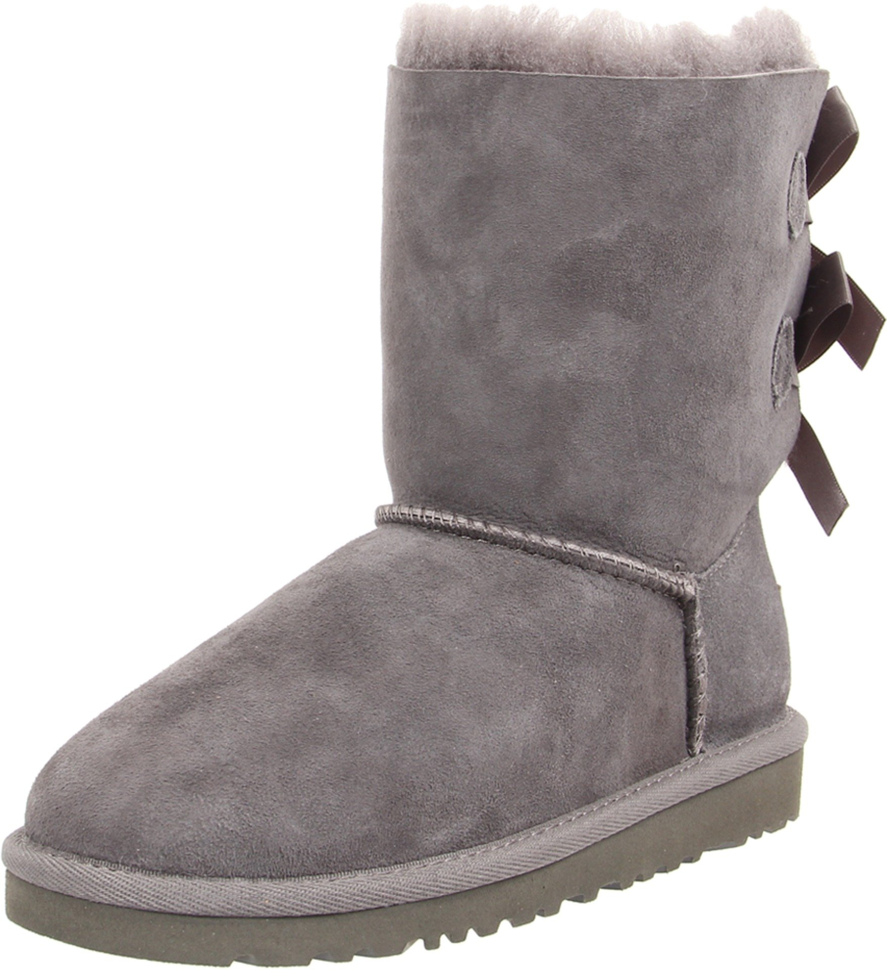 UGG Australia Girls' Bailey Bow Sheepskin Fashion Boot Grey 4 M US