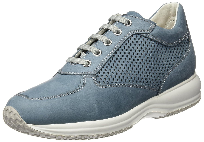 Geox D Happy a, Zapatillas para Mujer 39.5 EU|Azul (Denimc4008)