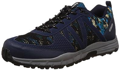 5b630e08f1cda Reebok Men's Camo Trek Dark Blue, Blue and Black Trail Running Shoes - 11 UK