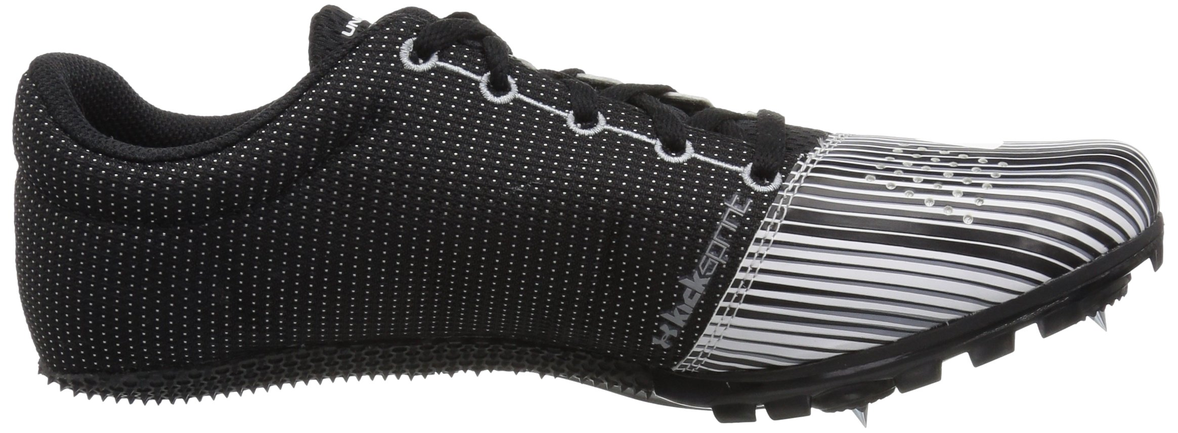 Under Armour Men's Kick Sprint Spike Running Shoe, White (100)/Black, 8 by Under Armour (Image #7)