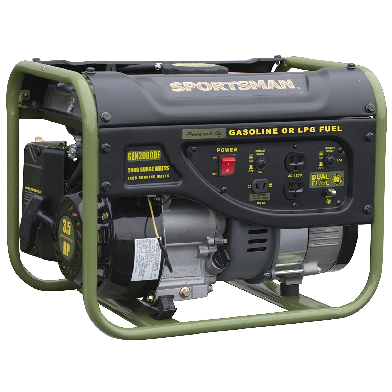1400 Running Watts//2000 Starting Watts Dual Fuel Powered Portable Generator Sportsman GEN2000DF