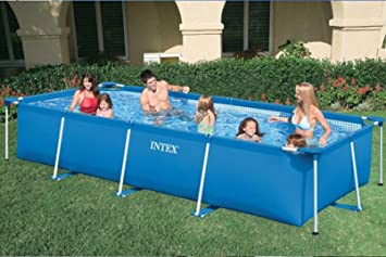 Intex.28272 Piscina Frame rectangular 300 x 200 x 75 (h) cm: Amazon.es: Jardín