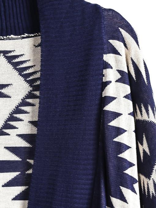 Sheinside - Cárdigan - para mujer azul talla única: Amazon.es: Ropa y accesorios