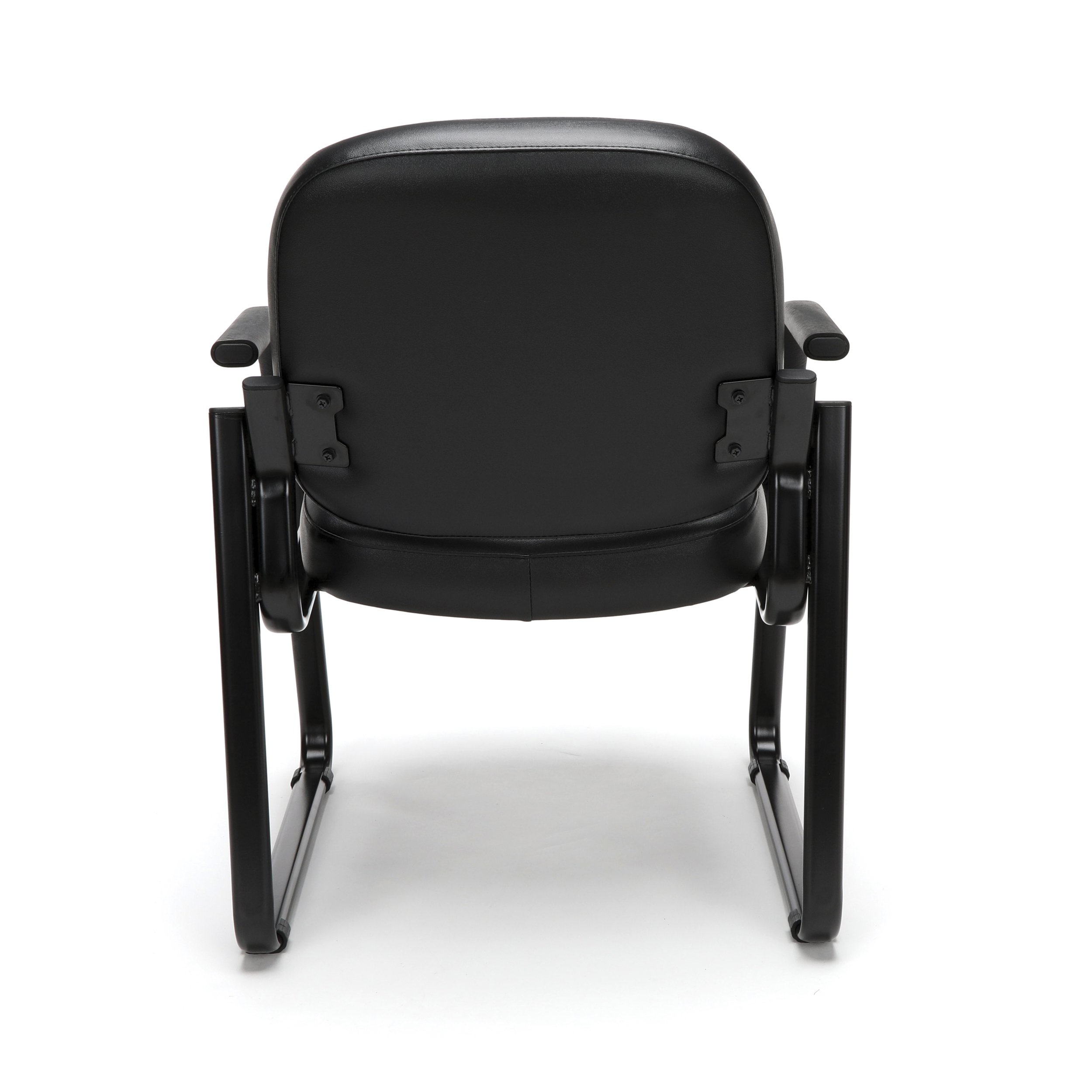 OFM Model 403-VAM Guest and Reception Chair with Arms, Anti-Microbial/Anti-Bacterial Vinyl, Black by OFM (Image #4)