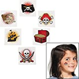 Fun Express Pirate Temporary Tattoos. (72 piece.) Safe and non-toxic.