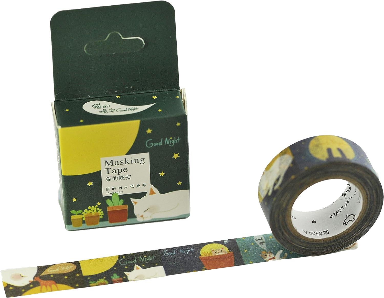 Elfenstall Masking Tape Washi-Tape Motiv-Klebeband zu Dekoratinszwecke Scrappingbook oder zum Basteln 15mm x 10m Design Asia