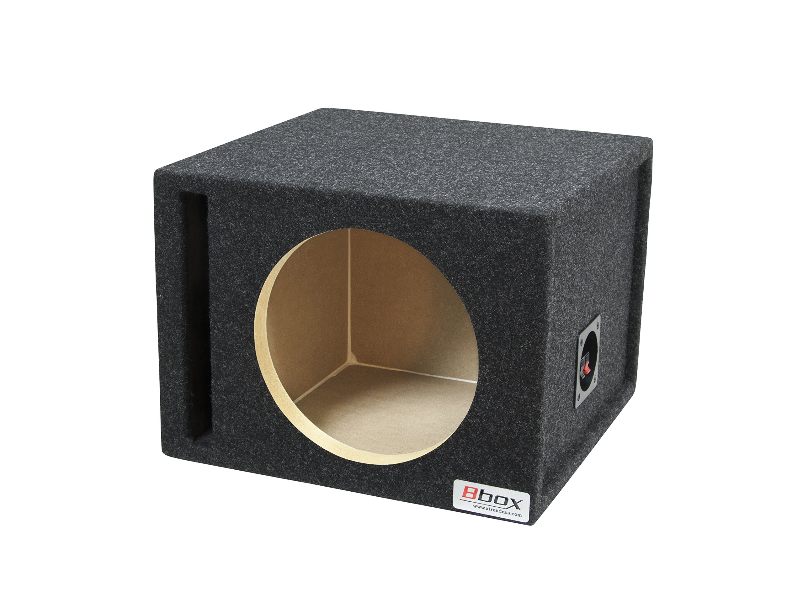 BBox E10SV Single 10'' Vented Carpeted Subwoofer Enclosure by ATREND-BBOX
