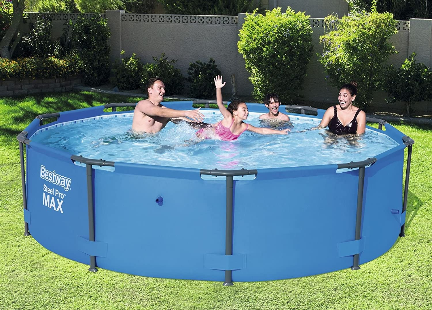 Bestway 56406 - Piscina Desmontable Tubular Steel Pro Max 305x76 cm: Amazon.es: Jardín