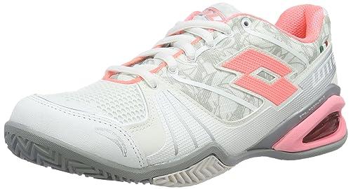 Lotto Stratosphere CLY W, Zapatillas de Tenis Mujer, Blanco / Rosa (Wht / Ros Neo), 40 EU: Amazon.es: Zapatos y complementos