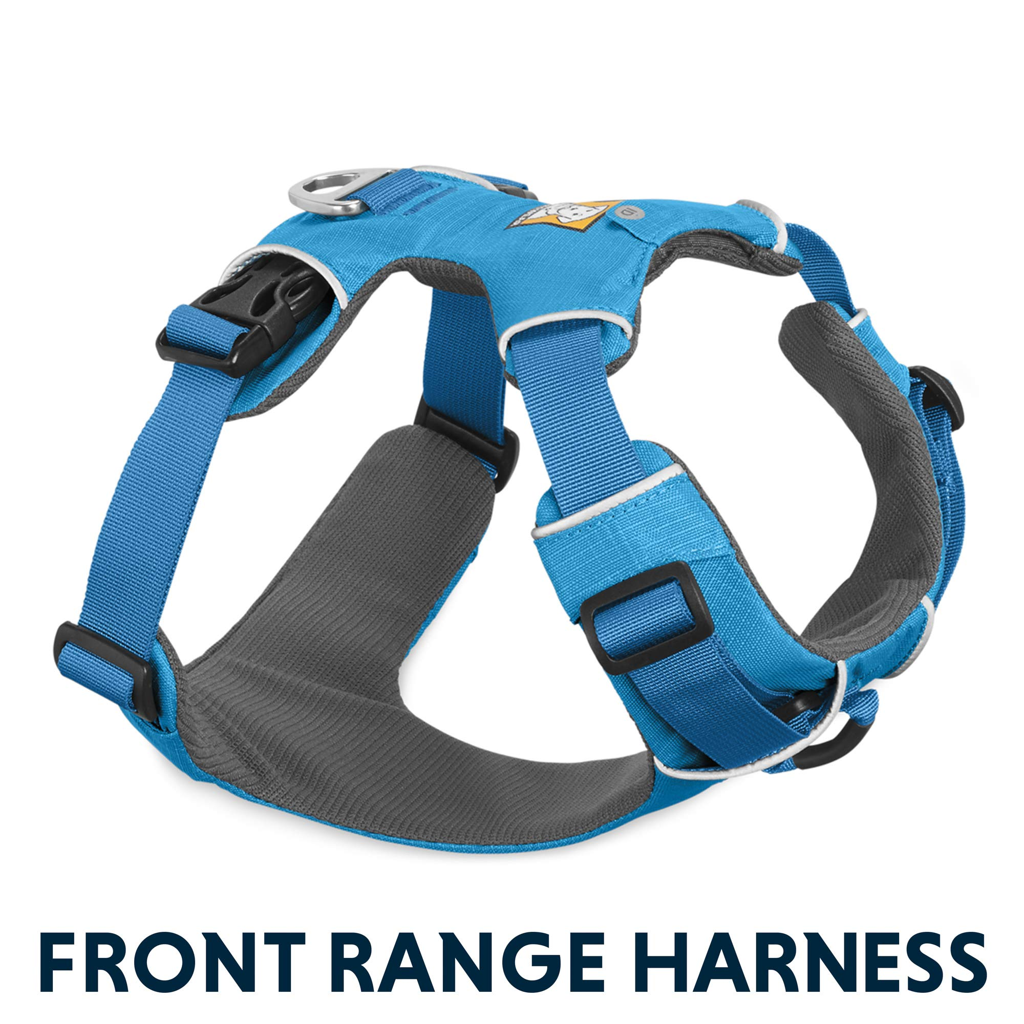 RUFFWEAR All Day Adventure Dog Harness, Medium Breeds, Adjustable Fit, Size: Medium, Blue Dusk, Front Range Harness, 30501-407M by RUFFWEAR