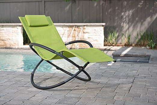 Vivere ORBL1 GA Orbital Chaise Longue Aluminium Pomme Vert 152 x 76 x 91 cm