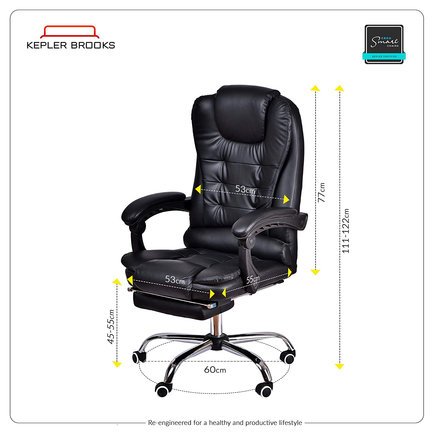 Remarkable Kepler Brooks Italia High Back Reclining Leatherette Office Pabps2019 Chair Design Images Pabps2019Com