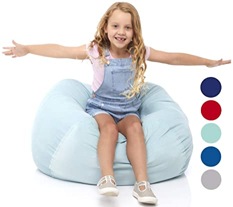 Fabulous Delmach Stuffed Animal Storage Bean Bag Chair 33 Width Large Double Stitched Bean Bag Cover Durable Zipper Fill With Anything Soft Beans Pdpeps Interior Chair Design Pdpepsorg