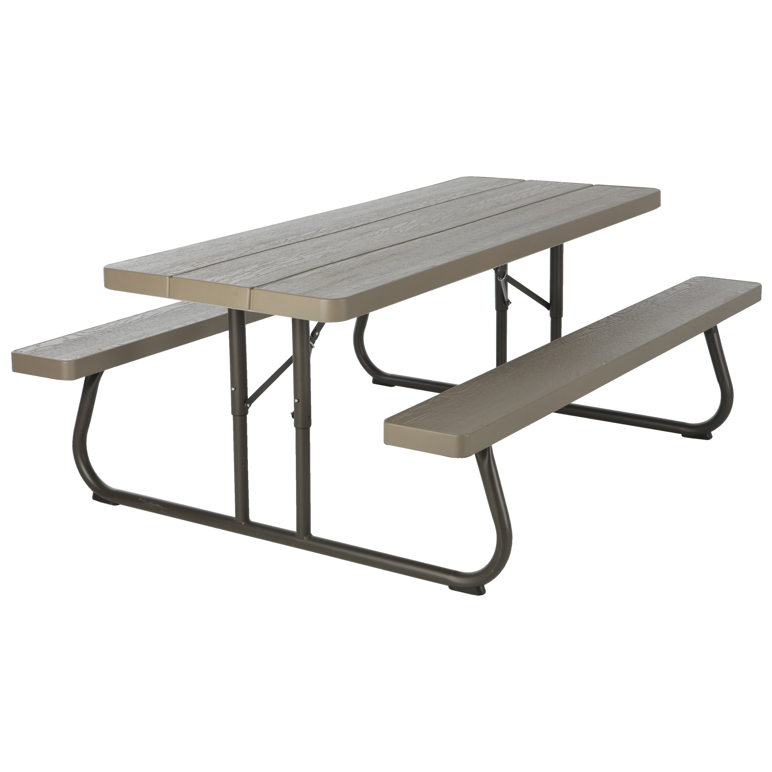 Lifetime  60105  Wood Grain Picnic Table and Benches, 6 Feet, Brown by Lifetime