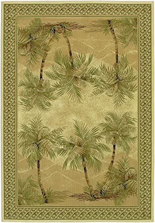 EVEREST PALM TREE Rug (size: 2X3.7) By Couristan Shape:RECTANGLE