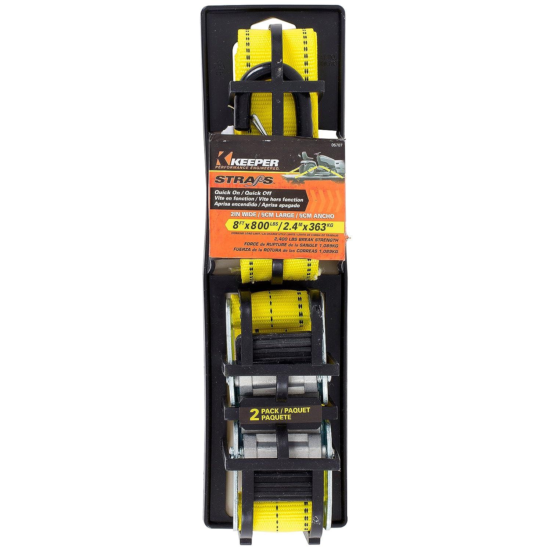 2 Pack Keeper 05707 8 x 2 Cam Buckle Tie-Down