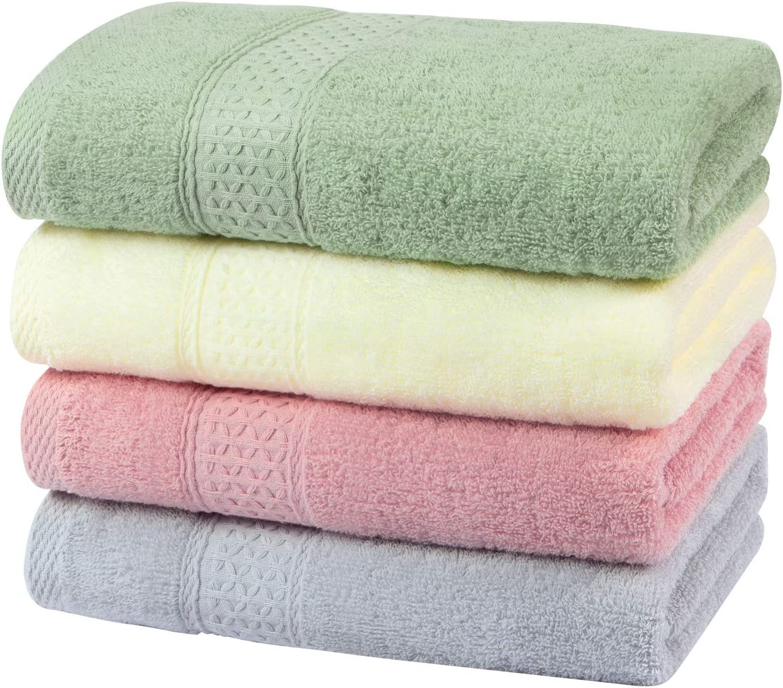 Yoofoss Handtuch 4er Pack 100% Baumwolle Handtücher 50x100cm
