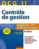 DCG 11 - Contrôle de gestion - 4e éd. - Manuel et applications