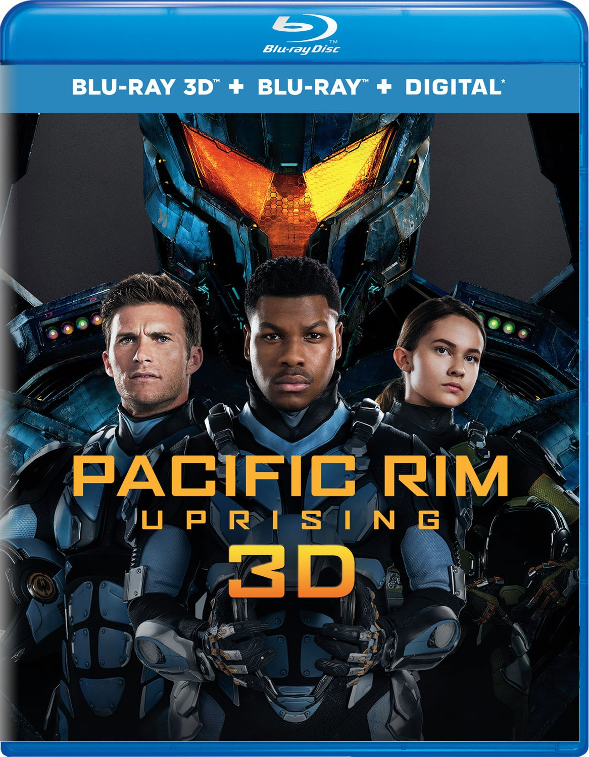 Blu-ray 3D : Pacific Rim Uprising (With Blu-Ray, 3 Dimensional, 2 Pack, Digital Copy, 2PC)