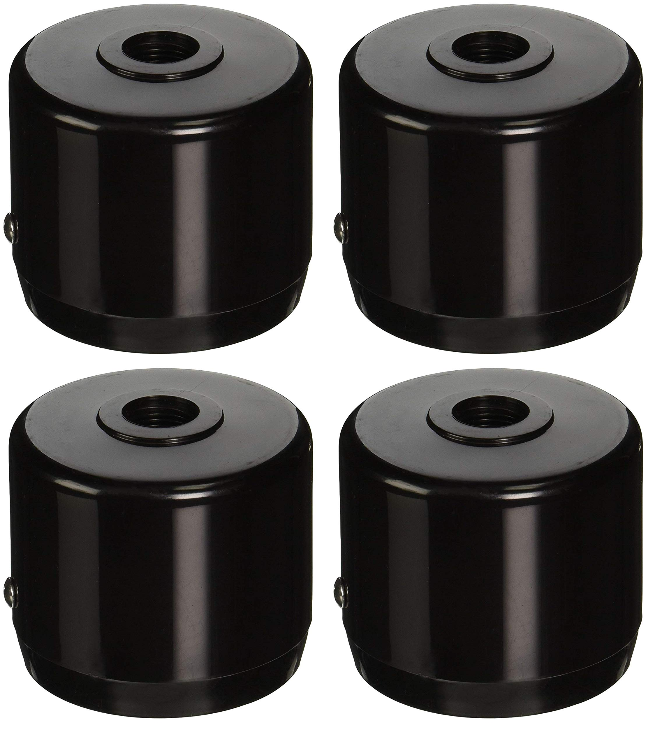 RAB Lighting MCAP3B Mighty Post Cap for 3'' Pipe, 2-7/8'' OD, Black (Pack of 4)