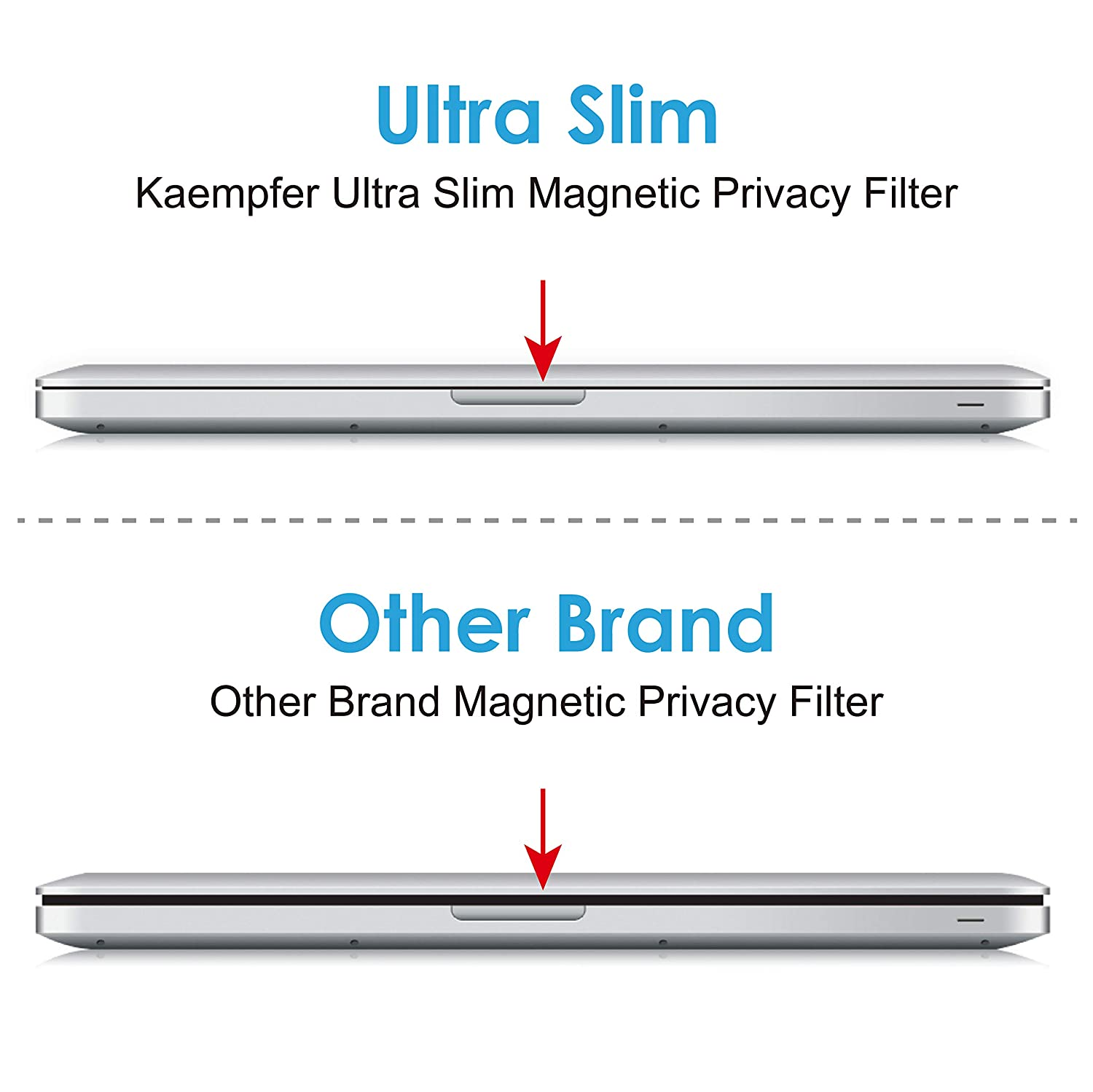 """KAEMPFER Privacy filter for Apple MacBook Pro 15/"""" Screen Protector 2016 model"""