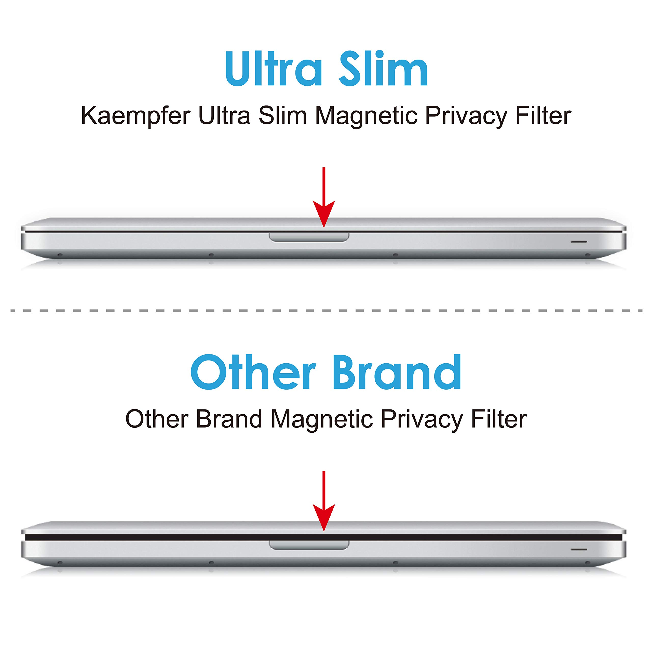 KAEMPFER Easy On/Off Magnetic Privacy Filter, No -Blue Light, Korea LG Filter High Definition, Screen Protector for Apple MacBook pro 15'' Touch Bar/No n-Touch Bar (Mid 2016) Retina Display for Laptop by KAEMPFER (Image #4)