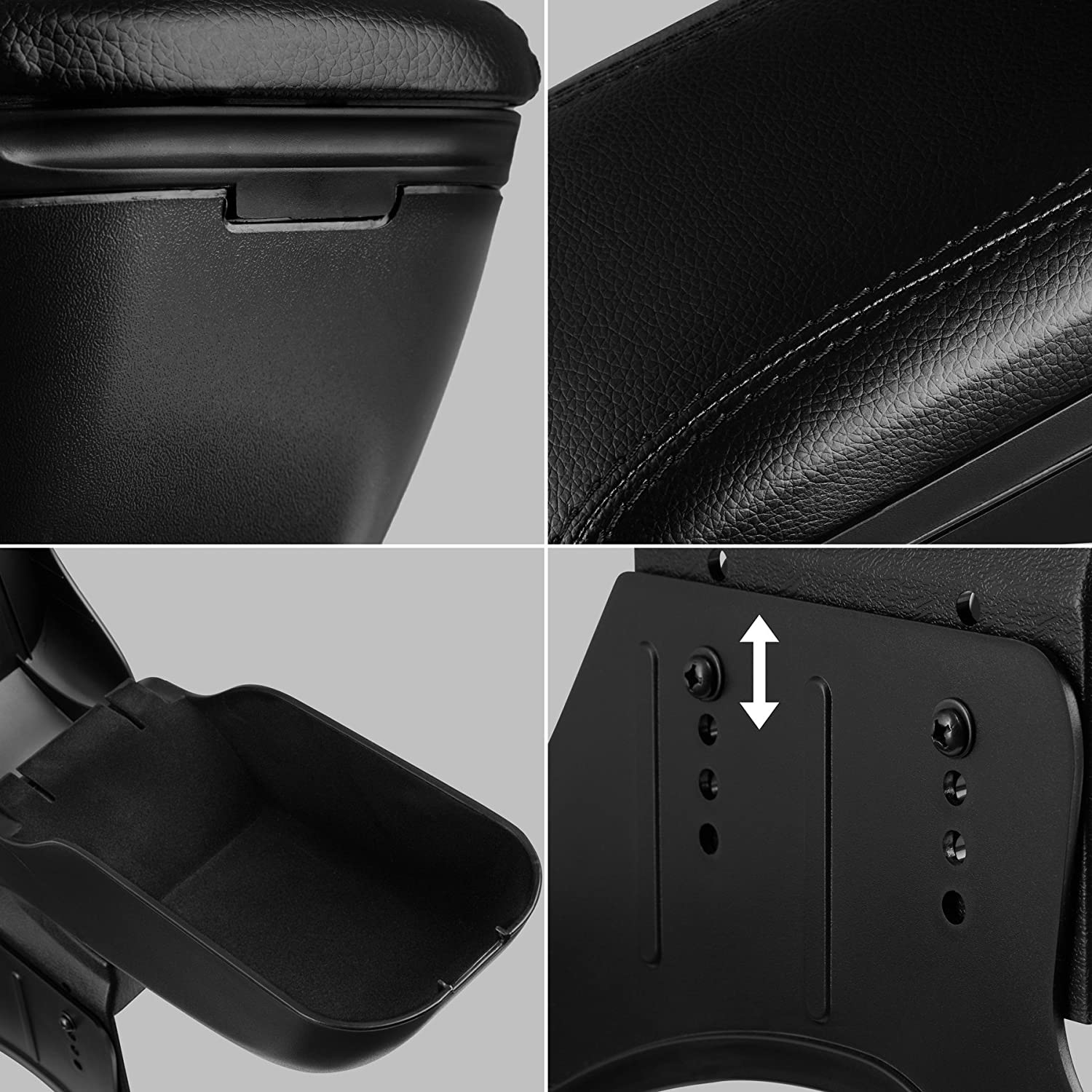 TecTake Central Armrest Centeral Console Padded armrest Large interior storage compartment Type 6 | No. 402726 different models