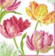 Entertaining with Caspari Tulip Dance Cocktail Napkins, Box of 40