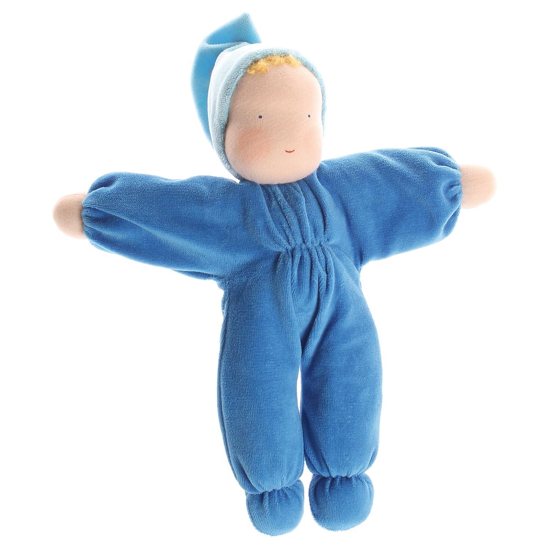 Doux en peluche poupée, bleu par de Grimm Spiel und Holz Design