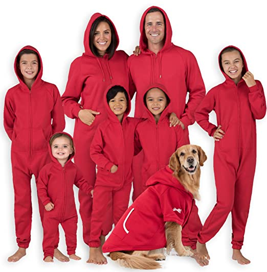 Footed Pajamas Family Matching Ruby Red Adult Footless Hoodie Onesie - Extra  Large 1c001ea3b
