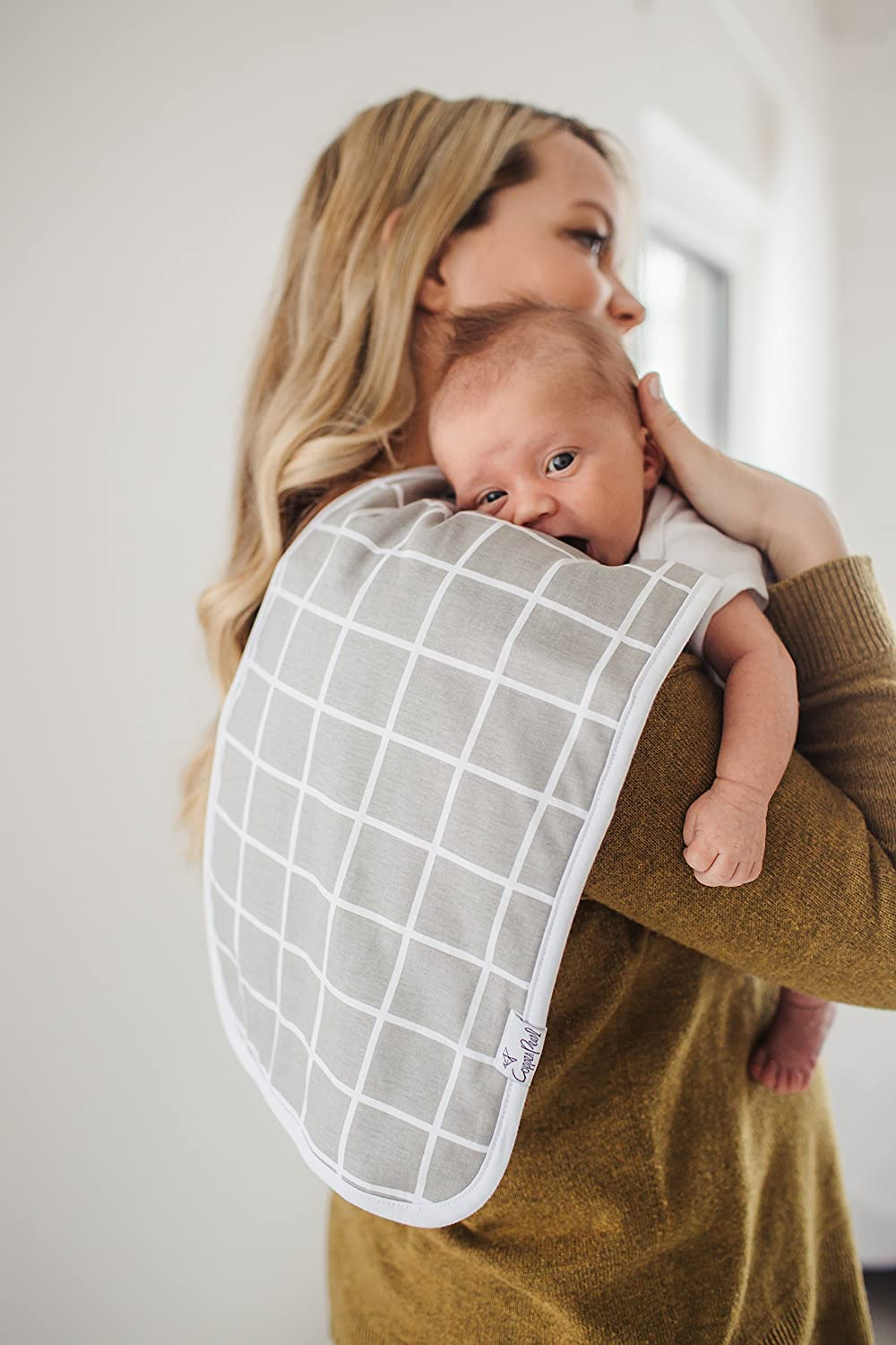 """Baby Burp Cloth Large 21x10 Size Premium Absorbent Triple Layer 3 Pack Gift Set /""""Urban Set/"""" by Copper Pearl"""