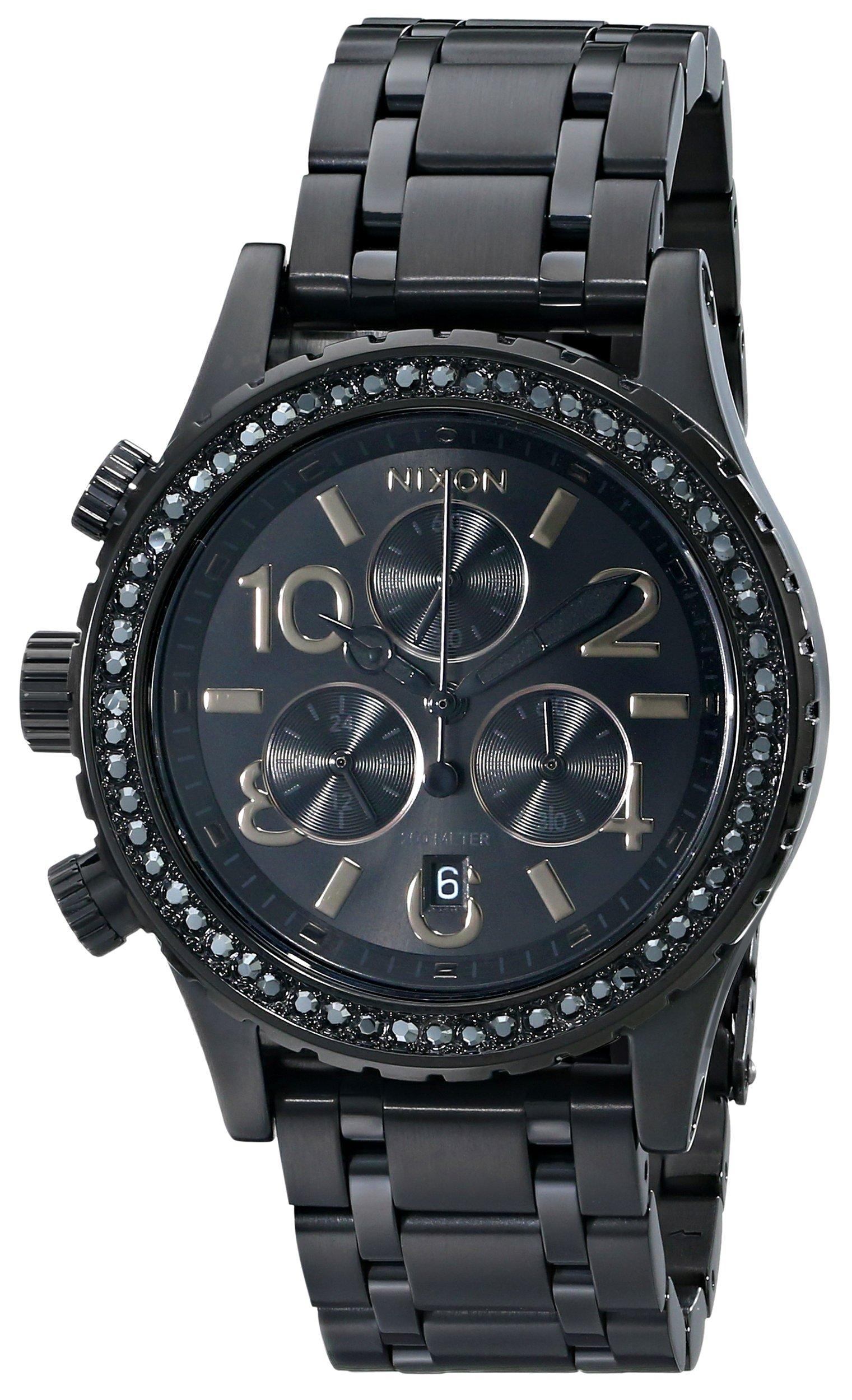 Nixon Women's A4041879 38-20 Chrono Watch, Black by NIXON