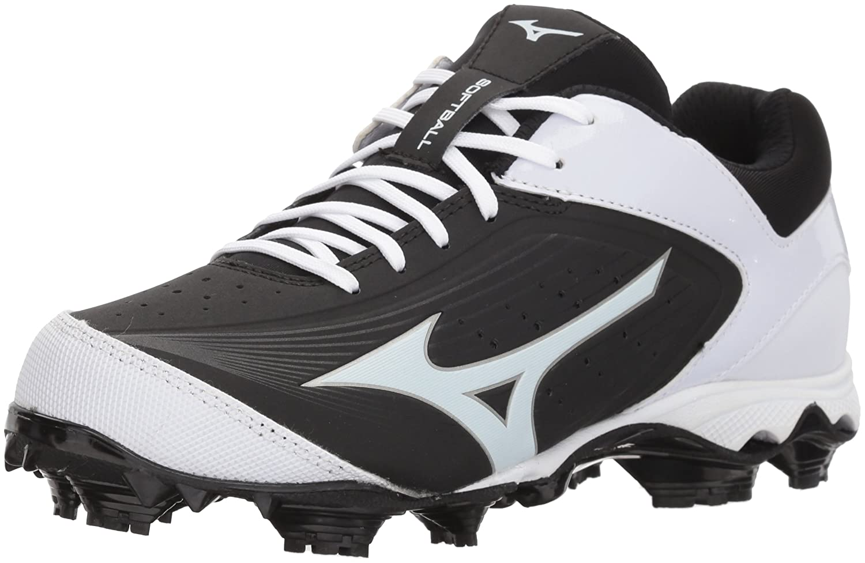 Mizuno (MIZD9)) Women's 9-Spike Advanced Finch Elite 3 Fastpitch Cleat Softball Shoe B072QDR2S5 8 B(M) US|Black/White