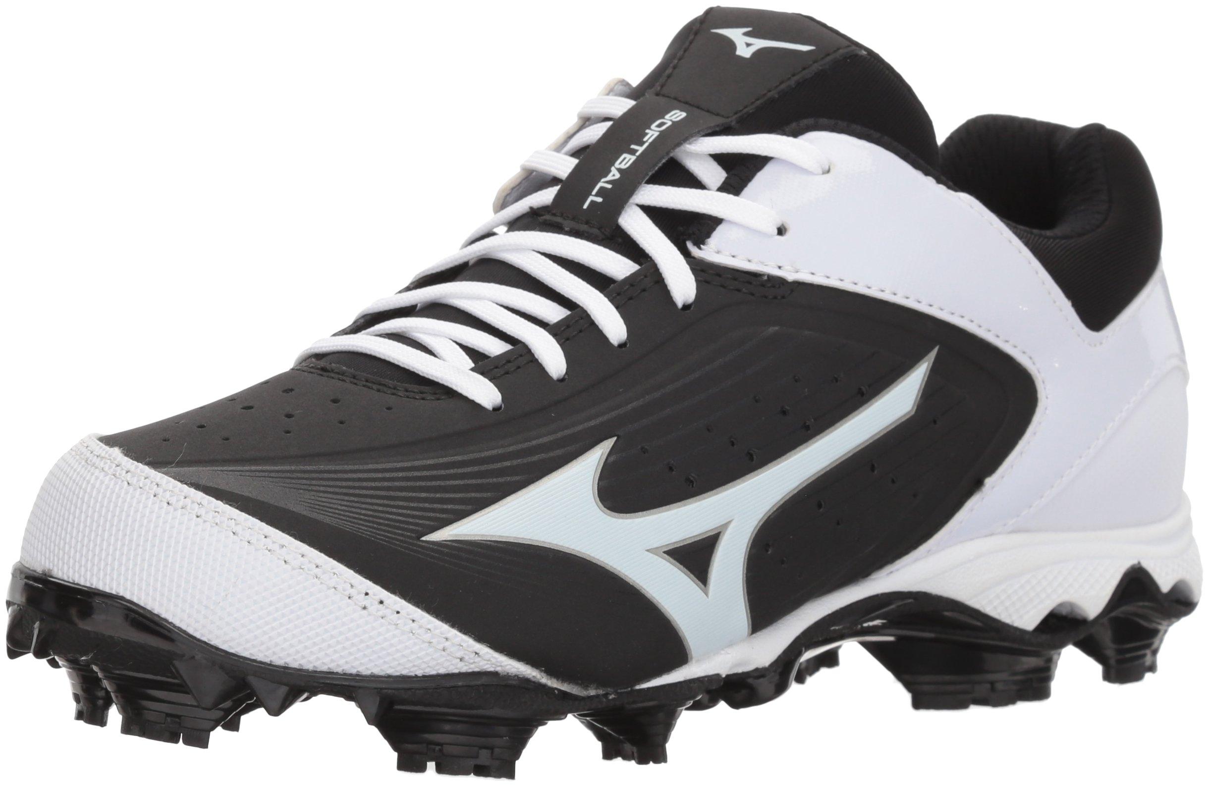 Mizuno Women's 9-Spike Advanced Finch Elite 3 Fastpitch Cleat Softball Shoe, Black/White, 10.5 B US by Mizuno