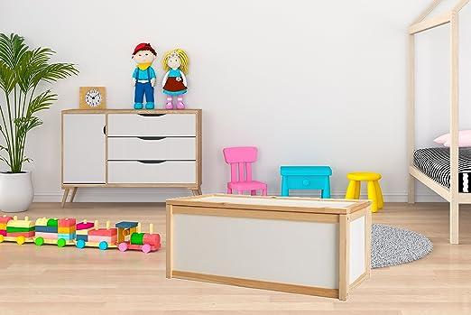 Valdern - Caja de juguetes para niños (madera de haya): Amazon.es: Hogar