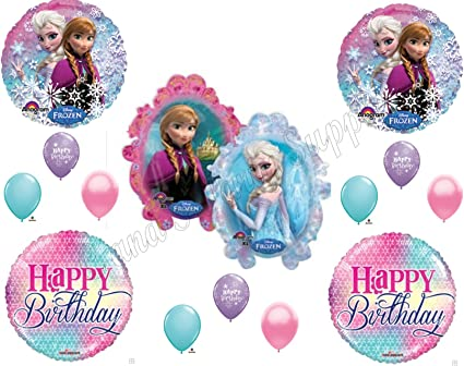 Amazon.com: Frozen Anna & Elsa Girly Globos Fiesta de ...