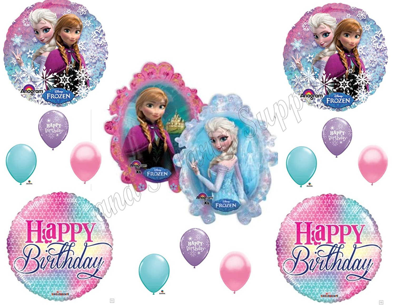Amazon.com: Frozen Anna & Elsa Girly Globos Fiesta de ...
