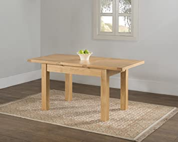 VALENCIA SOLID WOOD CHUNKY OAK SMALL NARROW BUTTERFLY EXTENDING DINING TABLE