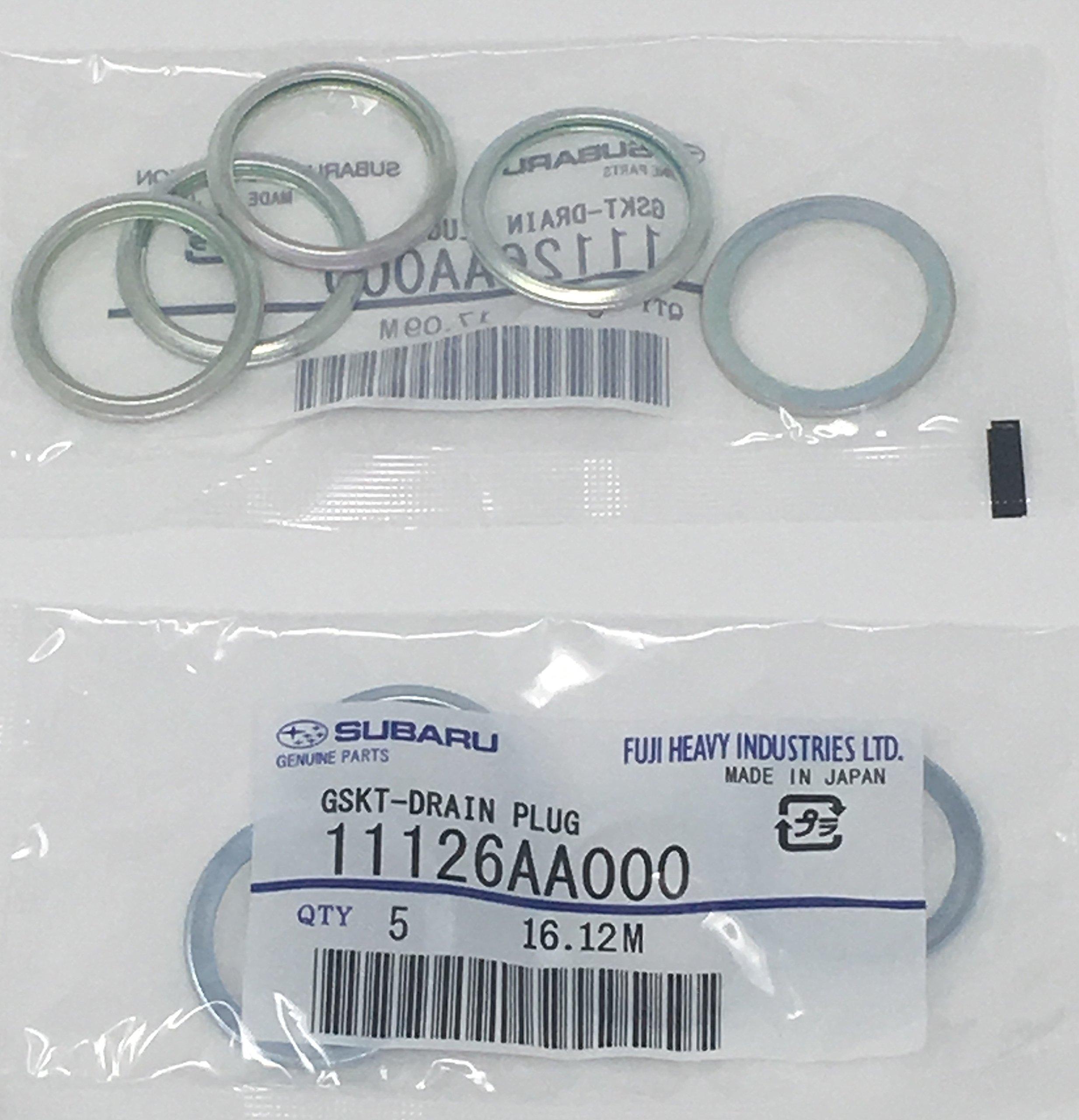 SUBARU GENUINE OEM 1985-2018 Subaru Oil Drain Plug Crush Washer Gasket SET OF 10 NEW 11126AA000