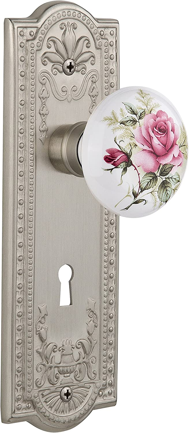 Nostalgic Warehouse Rapid rise Branded goods Meadows Plate with White Keyhole Porcel Rose