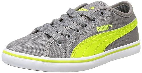 Puma Elsu V2 Cv Sneaker ragazzo Grigio Grigio Steel Grey/Lime Punch 30