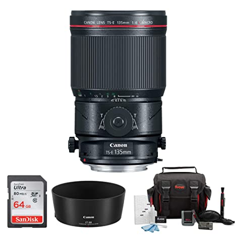 Amazon.com: Canon TS-E 135 mm f/4L Macro tilt-shift Lens + ...